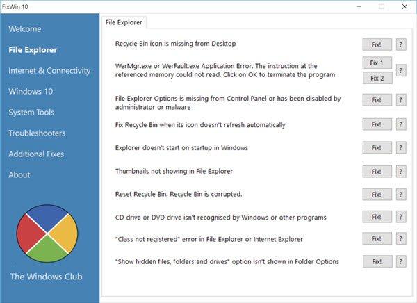 FixWin-File Explorer